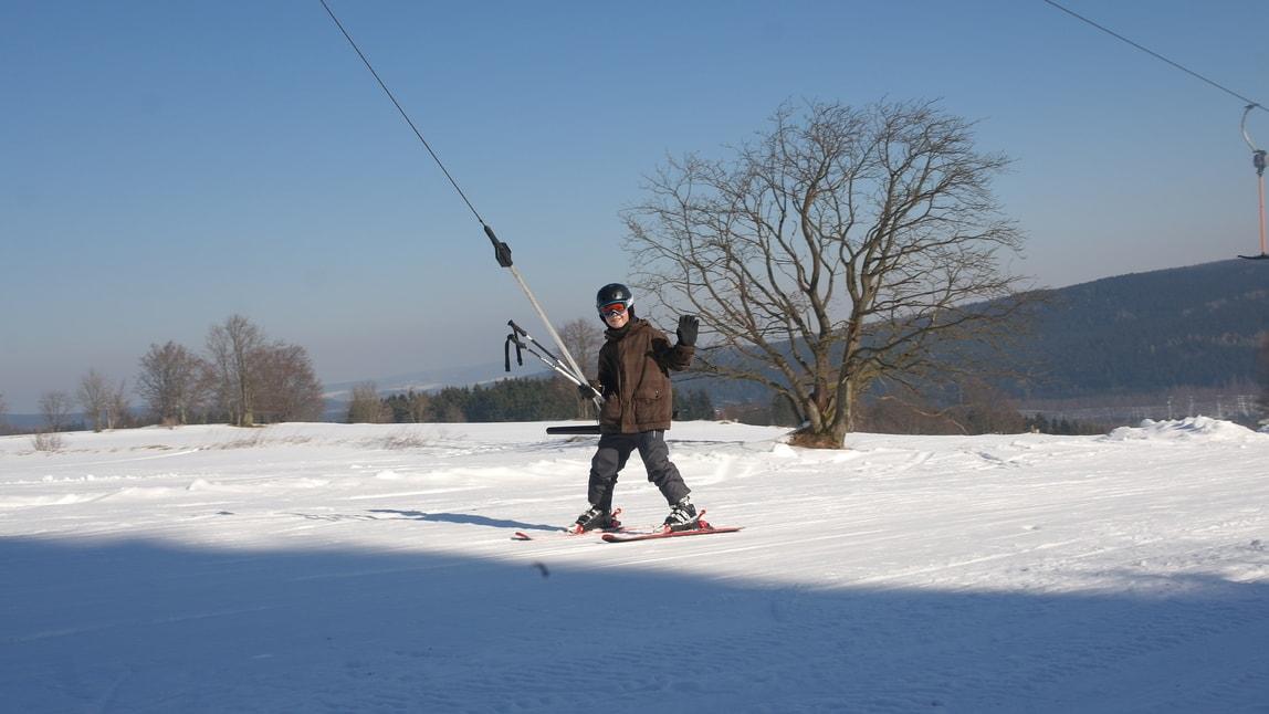 Ski lift am Schullandheim
